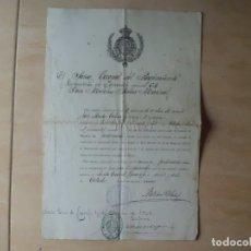Militaria: DOCUMENTO RGTO. INFANTERIA TENERIFE 64, NOMBRAMIENTO 1.909. Lote 175299937