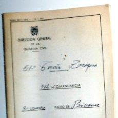 Militaria: LIBRETA DE RETRIBUCIONES GUARDIA CIVIL - ANTIGUA AÑO 1974 - COLECCIONISMO MILITAR - SELLADA!!. Lote 175414934