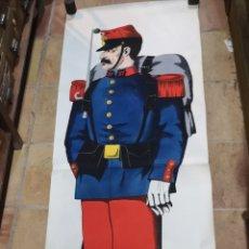 Militaria: CARTEL DE GRAN FORMATO DE 205 CM X 65 CM DE SOLDADO DE LA ARMADA FRANCESA DE INFANTERÍA POR PELLERÍ. Lote 175657579