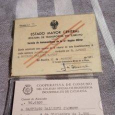 Militaria: LOTE CARNETS MILITARES ESPAÑA POST FRANQUISMO.EJERCITO ESPAÑOL.FALANGE.NACIONAL.GUARDIA CIVIL.POLICI. Lote 175750667