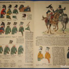 Militaria: LAMINA DE CABALLERÍA 1805 - 1815. Lote 175802213