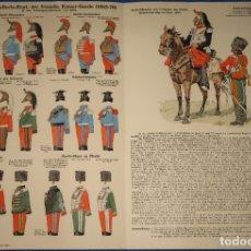Militaria: LAMINA DE CABALLERÍA 1852 - 1870. Lote 175802258