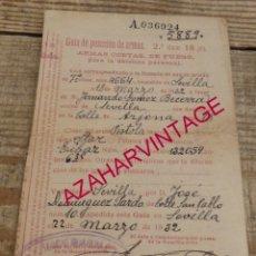 Militaria: SEVILLA, 1932, GUIA DE ARMAS, PISTOLA STAR. Lote 175971889