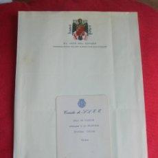 Militaria: RARO MENU DEL PALACIO DEL PARDO. CAUDILLO GENERALISIMO FRANCO. AÑO 1974.. Lote 176084275