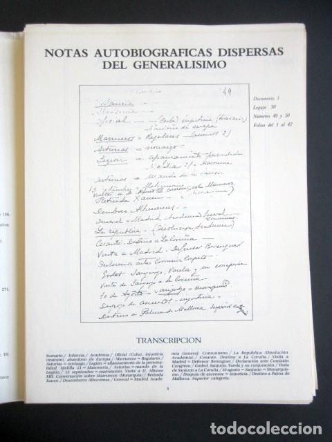 Militaria: MANUSCRITOS DE FRANCO CON SU TRANSCRIPCIÓN. LOTE DE 27 DOCUMENTOS FAXÍMILES. - Foto 2 - 176103800