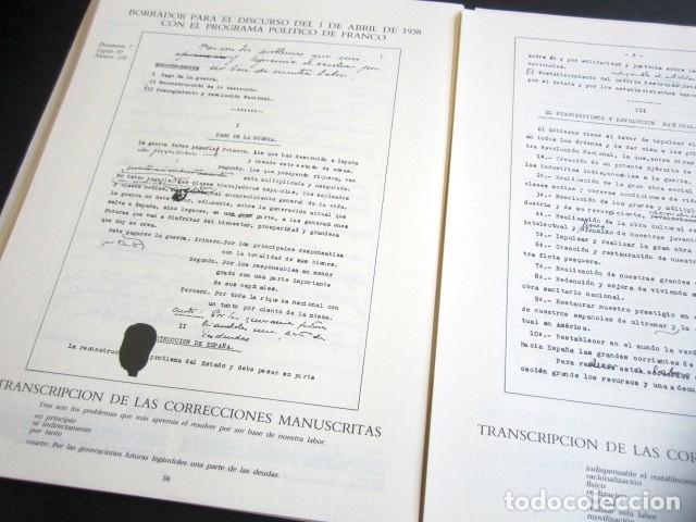 Militaria: MANUSCRITOS DE FRANCO CON SU TRANSCRIPCIÓN. LOTE DE 27 DOCUMENTOS FAXÍMILES. - Foto 8 - 176103800