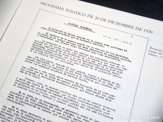 Militaria: MANUSCRITOS DE FRANCO CON SU TRANSCRIPCIÓN. LOTE DE 27 DOCUMENTOS FAXÍMILES. - Foto 9 - 176103800