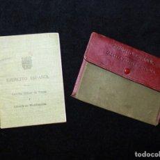 Militaria: ANTIGUA CARTILLA MILITAR DE TROPA + CARTERA. CAJA DE RECLUTAS DE JÁTIVA Nº 29 (VALENCIA). 1952. Lote 176322808