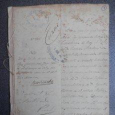 Militaria: GUERRA CUBA MANUSCRITO AÑO 1896 ATAQUE INSURRECTOS Y QUEMA DE CAÑAVERALES - INFORME ALCALDÍA-. Lote 176451010