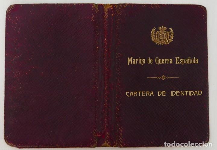 ARMADA ESPAÑOLA. CARTERA DE IDENTIDAD MILITAR DE UN OFICIAL (TENIENTE DE NAVÍO) ÉPOCA ALFONSO XIII (Militar - Propaganda y Documentos)