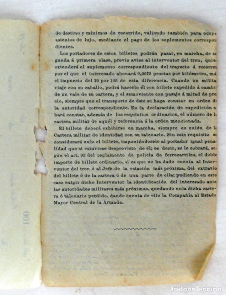 Militaria: ARMADA ESPAÑOLA. CARTERA DE IDENTIDAD MILITAR DE UN OFICIAL (TENIENTE DE NAVÍO) ÉPOCA ALFONSO XIII - Foto 5 - 176452944