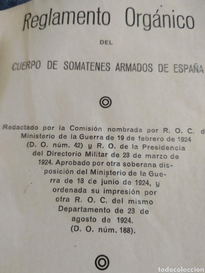 Militaria: Reglamento orgánico del cuerpo de somatenes armados de España 1925 - Foto 2 - 176488303