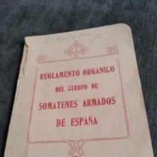 Militaria: REGLAMENTO ORGÁNICO DEL CUERPO DE SOMATENES ARMADOS DE ESPAÑA 1925. Lote 176488303