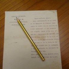 Militaria: AÑO 1915.EJERCITO DE ESPAÑA EN AFRICA, ASUNTOS INDIGENAS, MARRUECOS GUERRA. Lote 176904119
