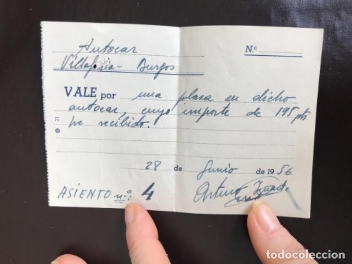 BILLETE AUTOCAR AERODROMO MILITAR VILLAFRIA BURGOS 1956 ASIENTO BUS MILICIA AEREA UNIVERSITARIA (Militar - Propaganda y Documentos)