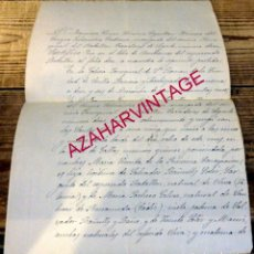 Militaria: SEVILLA, 1902, CERTIFICADO DE BAUTISMO EMITIDO POR CAPELLAN BATALLON DE CAZADORES DE SEGORBE 12. Lote 177262868