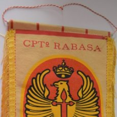 Militaria: BANDERÍN CPTº RABASA - CIR Nº 8 - BUEN ESTADO. Lote 177383799