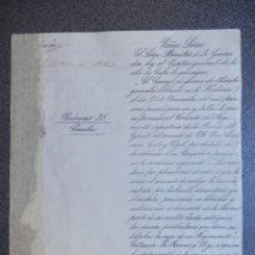 Militaria: CONDENA POR DESFALCO AL TENIENTE REGIMIENTO DE LA REINA AÑO 1865. Lote 177619412