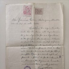 Militaria: DOCUMENTO MANUSCRITO ALCALDE DE BORNOS - CERTIFICADO MILITAR REEMPLAZO - AÑO 1946. Lote 177639105