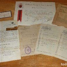 Militaria: LOTE DOCUMENTOS ANTIGUOS DE FALANGE. Lote 177879328