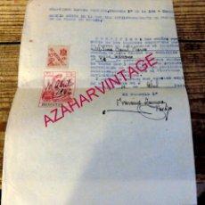 Militaria: SEVILLA, 1944, CERTIFICADO BUENA CONDUCTA EMITIDO POR LA GUARDIA CIVIL. SELLO PRO HUERFANOS. Lote 178139417