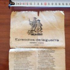 Militaria: PUBLICACIÓN EPISODIOS DE LA GUERRA DE MELILLA 1909. Lote 178259806