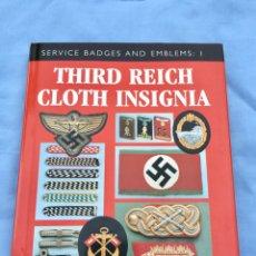 Militaria: RARO LIBRO COLECCIONISTAS TERCER REICH,ALEMANIA NAZI,INSIGNIA,EMBLEMA,UNIFORMES,THIRD REICH CLOTH I. Lote 178605718