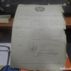 Militaria: CONCESION DE PASAPORTE POR EL CAPITAN GENERAL DE LA PRIMERA REGION MILITAR 1919. Lote 178684286