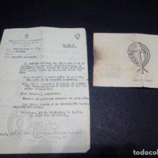 Militaria: DOCUMENTOS DEL SINDICATO DE FALANGE. Lote 179108613