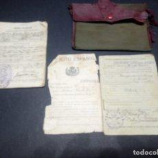 Militaria: CARTILLA MILITAR FECHADA EN 1928 Y CARTILLA DE MOVILIZACIÓN FECHADA EN 1931. Lote 179109115