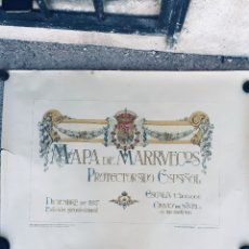 Militaria: MAPA MILITAR DEL PROTECTORADO ESPAÑOL EN MARRUECOS PUBLICADO EN 1927. Lote 179241876