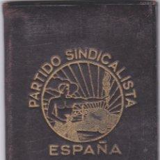 Militaria: PARTIDO SINDICALISTA PROGRAMA DEL PARTIDO CON HOJA DE COTIZACIO AÑO 1938 VER FOTOS ADICIONALES . Lote 179314872
