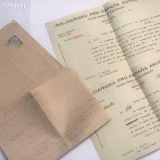 Militaria: DOCUMENTACIÓN Y CARTAS COMITE CENTRAL DE COORDINACIÓ. SOLIDARIDAD PRO-ESPAÑA ANTI FASCISTA. G. CIVIL. Lote 179315415