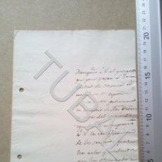 Militaria: TUBAL 1821 MEJICO PUEBLA DE LOS ANGELES OAXACA CONDUCTA DOCUMENTO MILITAR. Lote 179403302