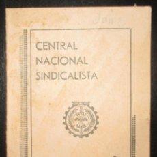 Militaria: CARNET DE LA CENTRAL NACIONAL SINDICALISTA DE OVIEDO. 1938. SINDICATO DE CONSTRUCCIÓN Y VIVIENDA.. Lote 180193320