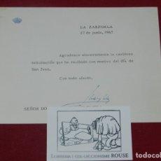 Militaria: (M) REY JUAN CARLOS - CARTA DE 1967 FITMARA ORIGINAL POR EL REY JUAN CARLOS. Lote 180335323