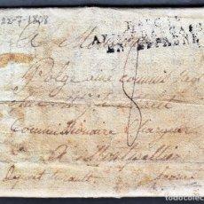 Militaria: BUITRAGO DE LOZOYA - GUERRA DE LA INDEPENDENCIA JULIO 1808 - CARTA DE UN SOLDADO FRANCÉS. Lote 180495170
