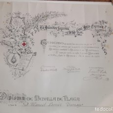 Militaria: CONCESION MEDALLA DE PLATA DE LA CRUZ ROJA - 1922. Lote 181181517