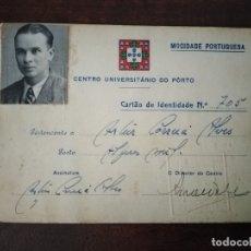 Militaria: CARNET MOCIDADE PORTUGUESA, CENTRO UNIVERSITARIO DO PORTO, 1944/45.. Lote 181435966