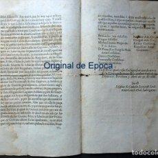 Militaria: (JX-191097)DOCUMENTO DE LA DIPUTACIÓN GENERAL DE CATALUNYA , 1688. REVUELTA DE LA BARRETINAS .. Lote 181483416