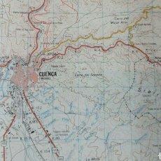 Militaria: MAPA MILITAR CARTOGRÁFICO DE CUENCA. Lote 181537371