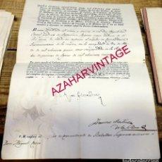Militaria: 1834, ISABEL II, NOMBRAMIENTO COMANDANTE BATALLON SUPERNUMERARIO,FIRMA REAL Y MARTINEZ DE LA ROSA. Lote 181718448