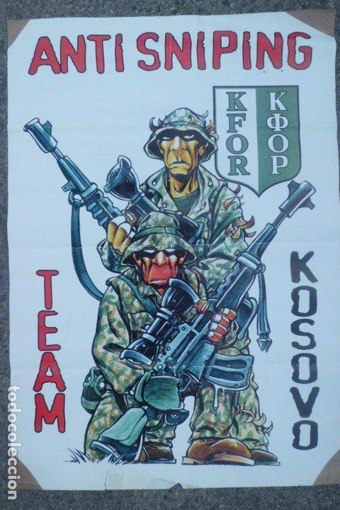 Militaria: ESTUPENDO CARTEL ORIGINAL GUERRA DE KOSOVO-KFOR - Foto 2 - 181781958