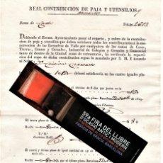 Militaria: MOSSOS D'ESQUADRA,REAL ORDEN AÑO 1829,SUMINISTRO PARA CABALLOS Y ARMAS,ESCUADRAS DE VALLS,CATALUNYA. Lote 182008103