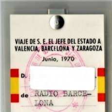 Militaria: CARNET DE PRENSA OFICIAL VISITA DEL GENERAL FRANCISCO FRANCO A BARCELONA,VALENCIA,ZARAGOZA AÑO 1970. Lote 182046005