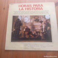 Militaria: FRANCO HORAS PARA LA HISTORIA. LP. DOCUMENTO SONORO RNE. PERFECTO ESTADO.. Lote 182170908