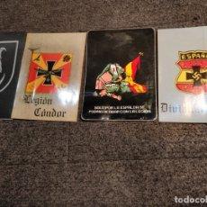 Militaria: 4 ADHESIVOS MILITARES. DIVISIÓN AZUL, LEGIÓN CONDOR, DIVISIÓN 102 Y LA LEGIÓN. 7,5 X 11 CMS.. Lote 52832921