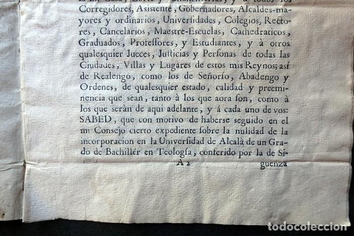 Militaria: (JX-191120)Real Cédula , Carlos III , 1770 , reimpresa en la Universidad de Cervera . - Foto 6 - 182493598
