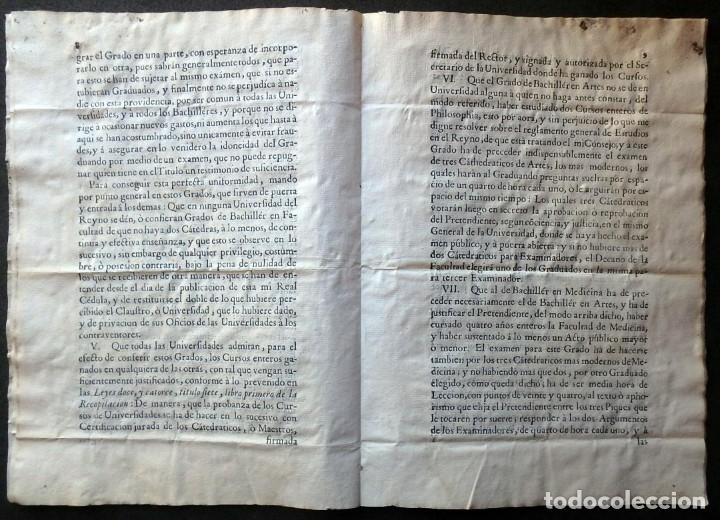 Militaria: (JX-191120)Real Cédula , Carlos III , 1770 , reimpresa en la Universidad de Cervera . - Foto 10 - 182493598