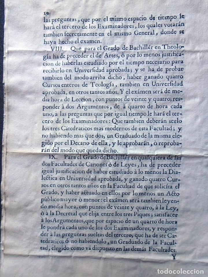 Militaria: (JX-191120)Real Cédula , Carlos III , 1770 , reimpresa en la Universidad de Cervera . - Foto 14 - 182493598
